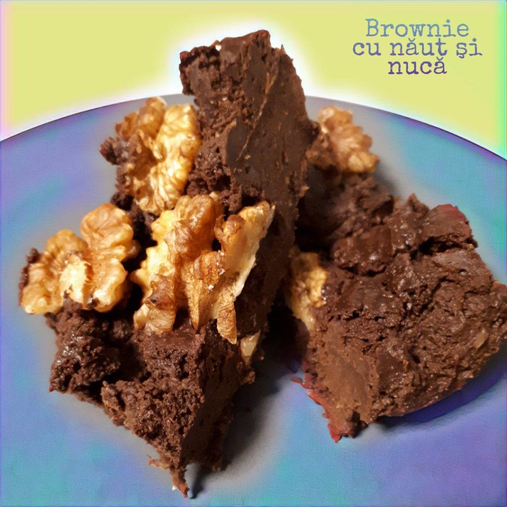 Brownie cu năut și nucă